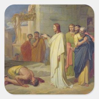 Jesus Healing the Leper, 1864 Sticker