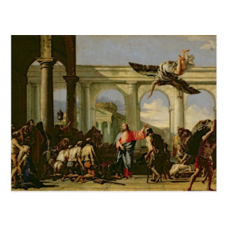 Jesus Healing the Paralytic at the Pool Postcard