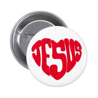 Jesus heart pinback button