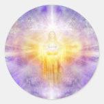 Jesus Heart Round Sticker