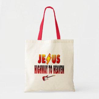 Jesus Highway to Heaven Budget Tote Bag
