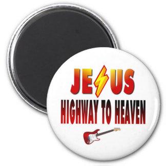 Jesus Highway to Heaven Magnet