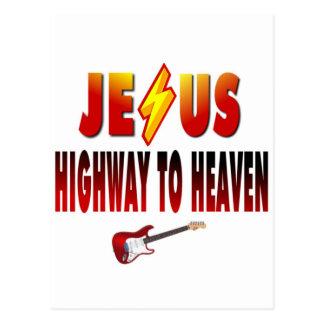 Jesus Highway to Heaven Postcard