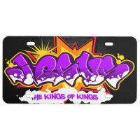 Jesus Hip Hop Graffiti License Plate