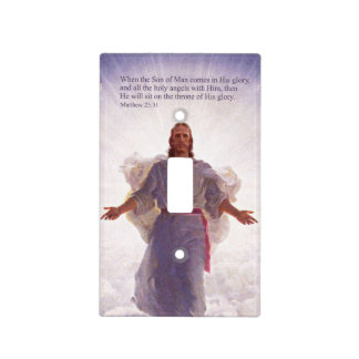 Jesus & his Angels 1 Light Switch Cover
