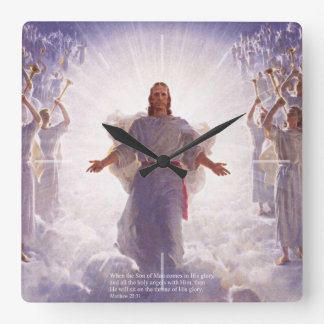 Jesus & his Angels 1 Wall Clock