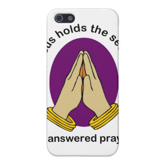 Jesus hold the answer of answered prayer iPhone SE/5/5s case