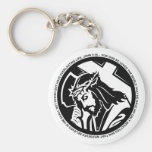 Jesus holding Cross with John 3:16 quote Key Chain