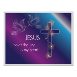 Jesus holds the key to my heart. poster