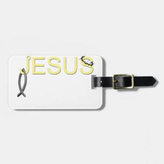 Jesus hook And Fish.png Bag Tag