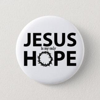 jesus hope black button