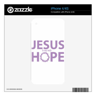 jesus hope lavender decal for iPhone 4S