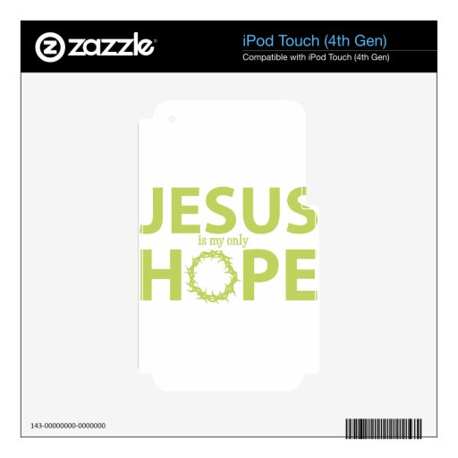 jesus hope light green iPod touch 4G decal