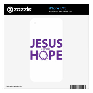 jesus hope purple decal for the iPhone 4S