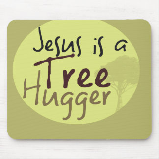 Jesus Hugs trees Mouse Pad