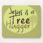 Jesus Hugs trees Mouse Pads