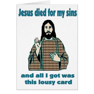 Jesus Humor Card
