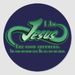 Jesus I Am The Good Shepherd Classic Round Sticker