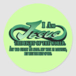 Jesus I Am The Light Classic Round Sticker