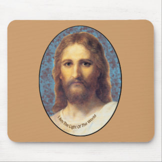 Jesus I am The Light of the World products Mouse Pad