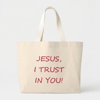 Jesus I trust in you Canvas Bags