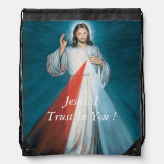 Jesus, I Trust In You ! Drawstring Backpack
