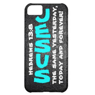 Jesús iguales ayer, hoy y para siempre funda iPhone 5C