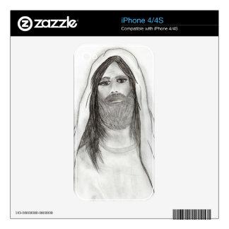 Jesus III Decals For iPhone 4