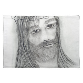 jesus in agony cloth placemat