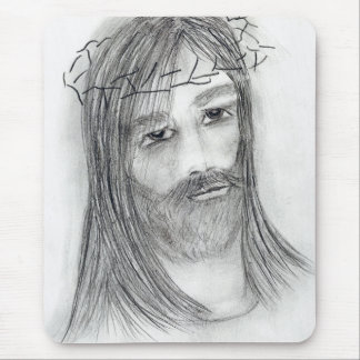 jesus in agony mouse pad