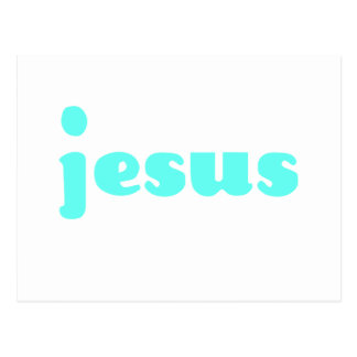Jesus In Blue Postcard