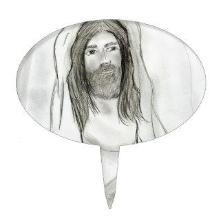 Jesus in Cave Cake Topper