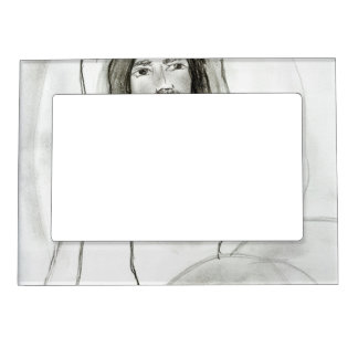 Jesus in Cave Magnetic Picture Frame