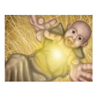 Jesus in his Manger Postcard