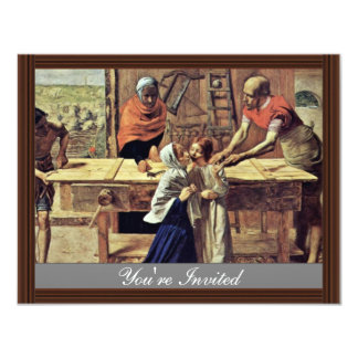 Jesus In His Parents' House 4.25x5.5 Paper Invitation Card