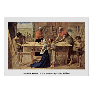 Jesus In House Of His Parents By John Millais Posters