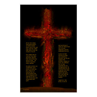 Jesus in Isaiah 53 Poster