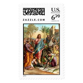 jesus in jerusalem stamp postage