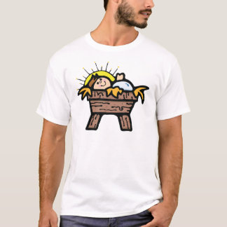 jesus in manger T-Shirt