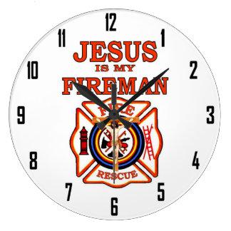 JESUS IN MY FIREMAN CLOCK