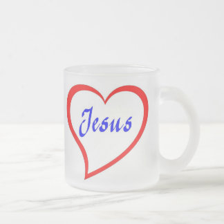 Jesus In My Heart 10 Oz Frosted Glass Coffee Mug