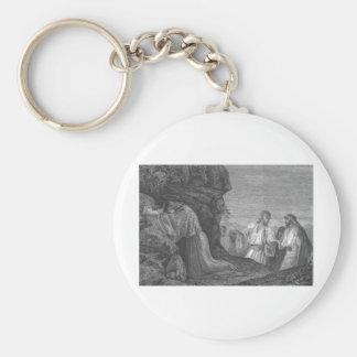 Jesus in Prayer circa 1874 Keychain
