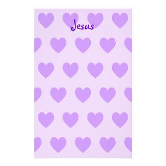 Jesus in Purple Stationery