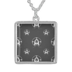 Jesus in Silver Necklace