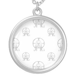 Jesus in Silver Pendant