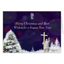 Jesus in Snow Card