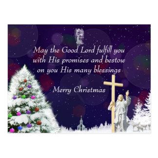 Jesus in Snow Postcard