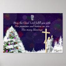 Jesus in Snow Poster