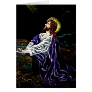 Jesus in the Garden of Gethsemane Easter Card