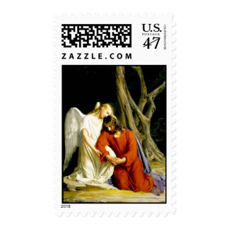 Jesus in the garden of Gethsemane Postage